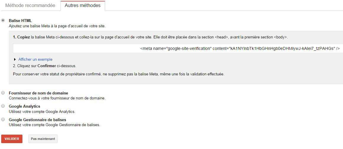 google webmaster tools verification code