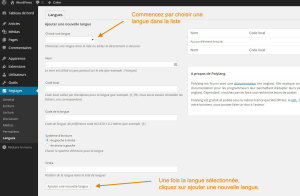 Ajouter une langue dans WordPress