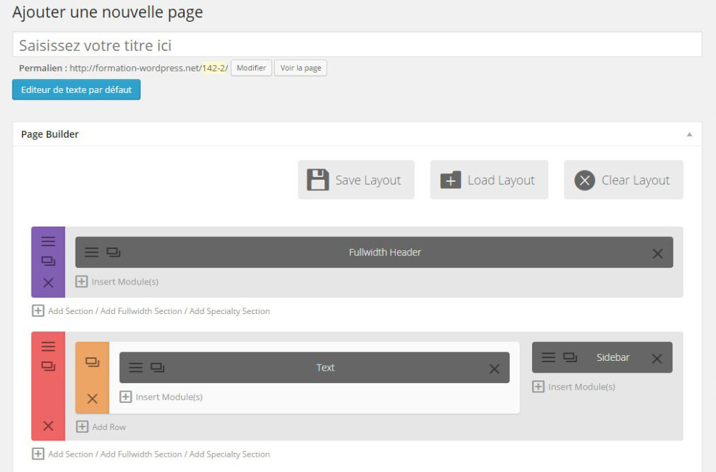 DIVI-ajouter-page