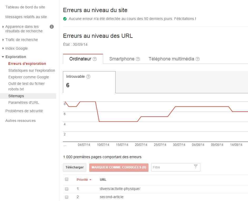 Grâce à Google Webmaster Tools, les erreurs exploration seront du passé :)