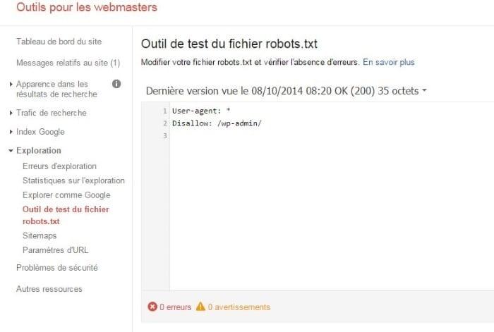 Les fichiers sitemap et robots.txt doivent faire bon ménage