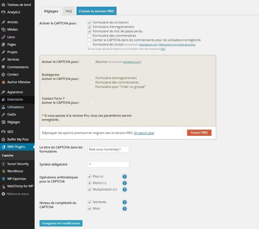 Captcha un des meilleurs plugins WordPress à tester d'urgence