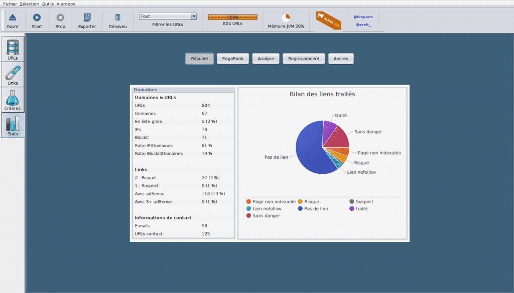 Seo Cleaner est un logiciel pour anlyser vos backlinks