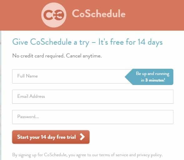 inscription-coschedule calendrier éditorial