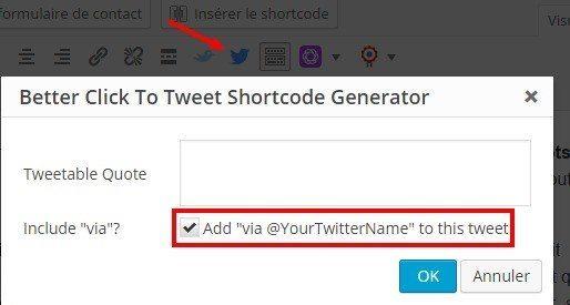 votre tweet à partager