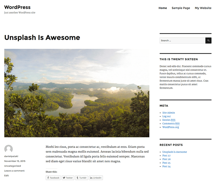 twenty-sixteen WordPress 4.4