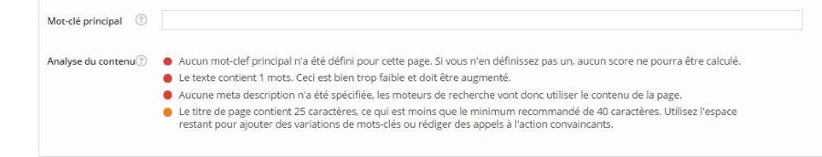 Contrairement à Yoast, All in One Pack n'est pas un plugin wordpress traduit en francais