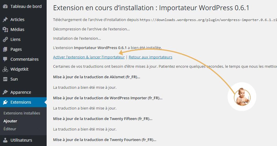 migration wordpress.com exporter