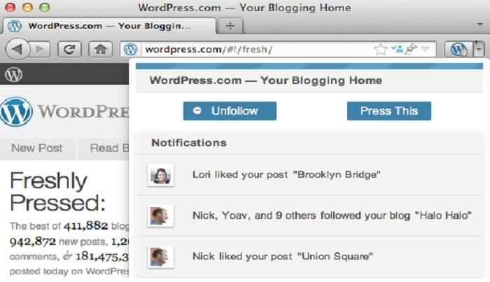 Wordpress.com Extension