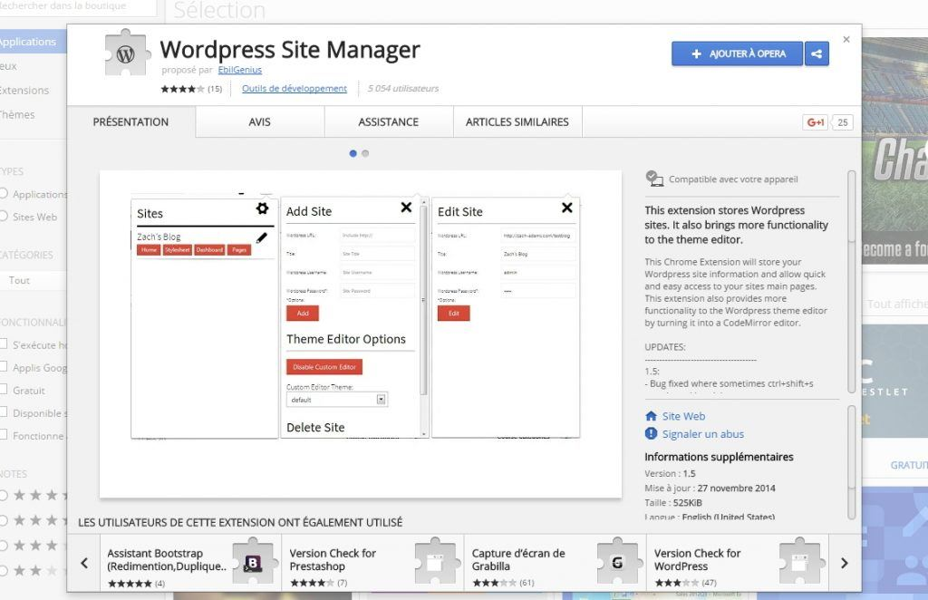 wordpress site manager