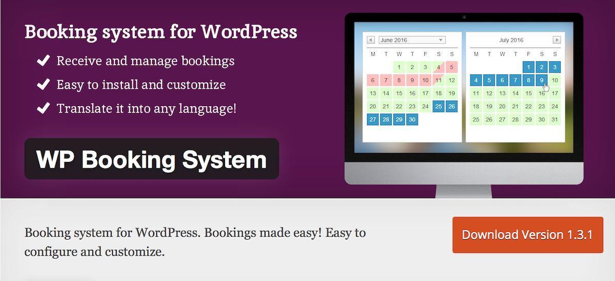 Les 5 meilleurs plugins gratuits de r servation en ligne for Meilleur site de reservation hotel en ligne
