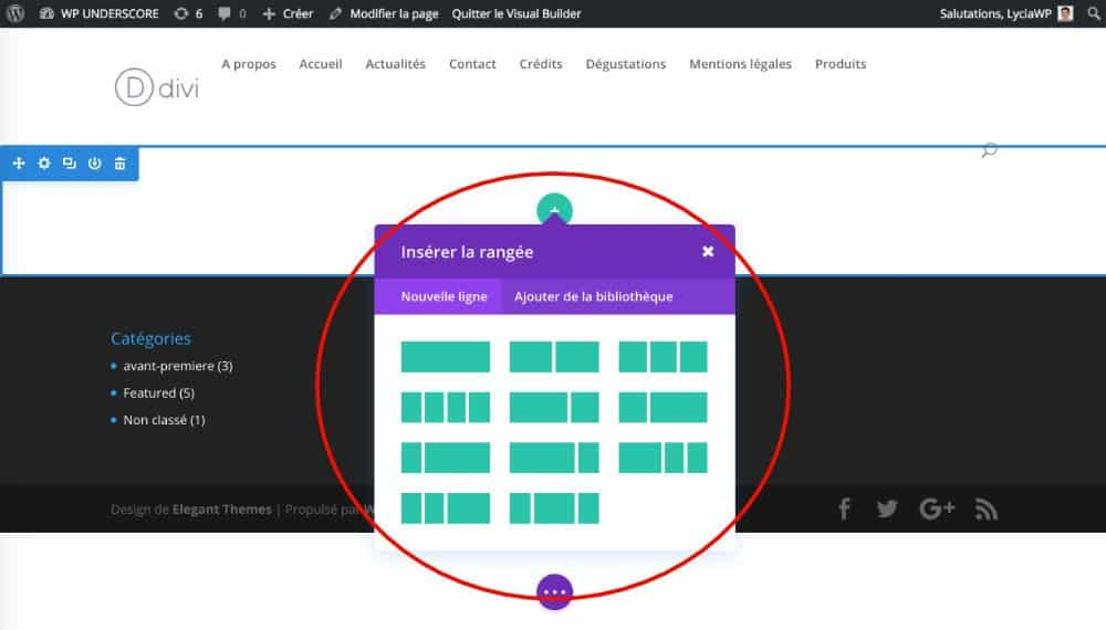 Construire sa page avec DIVI 3