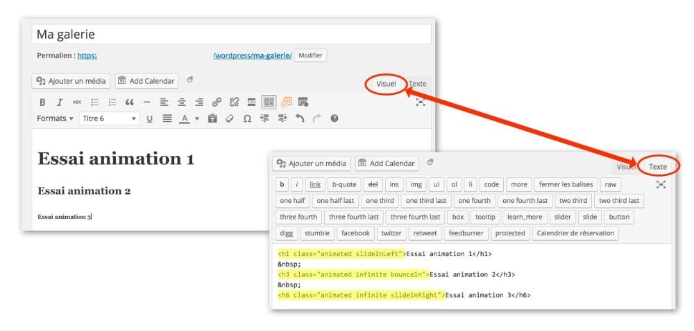 Appliquer les classes sur les balises HTML