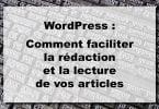 Améliorer ses articles WordPress