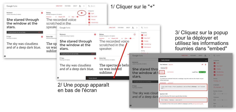 Obtenir la Google Font