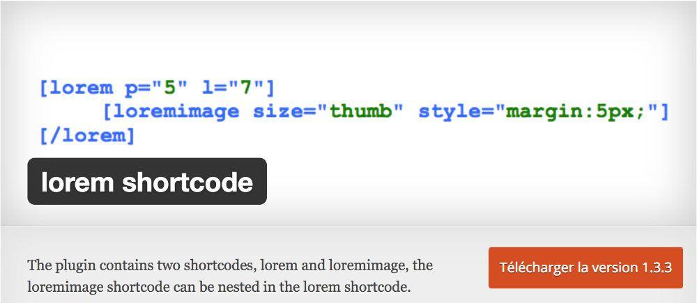 Lorem Shortcode