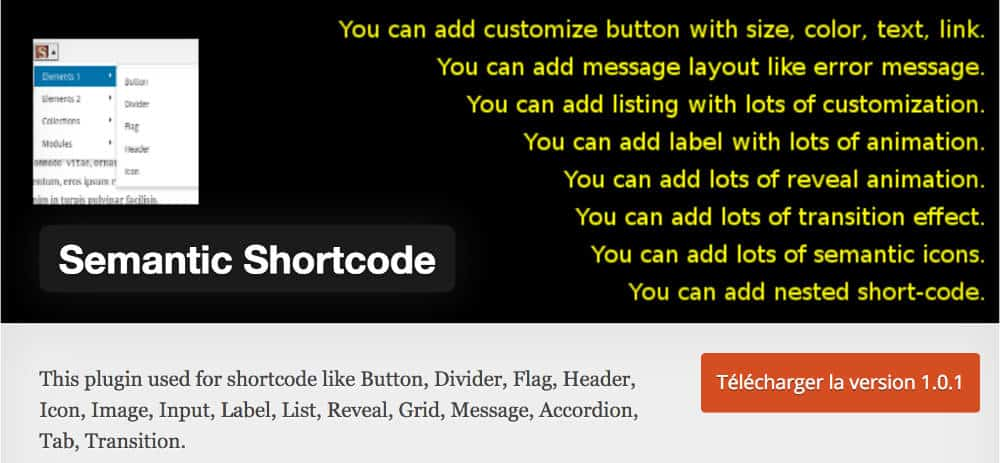 Semantic Shortcode