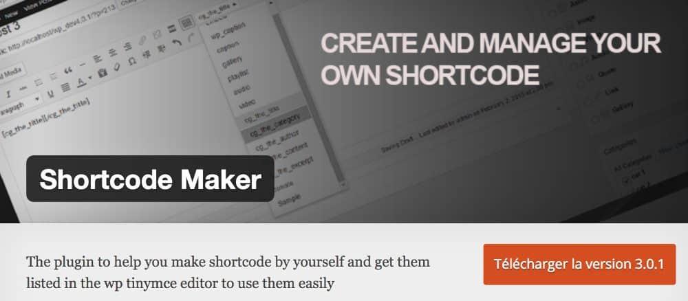 Shortcodes Maker