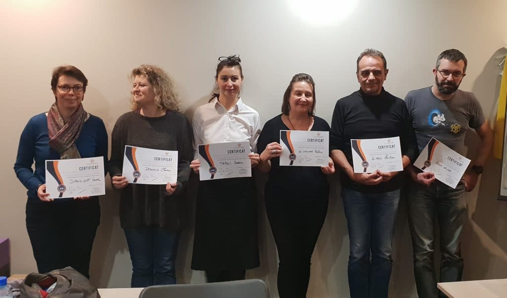 Stagiaires ayant obtenu leur certification WordPress