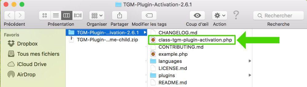 Extraire le fichier class-tgmpa