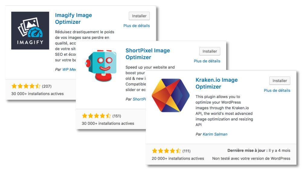Plugin WordPress pour compression d'images