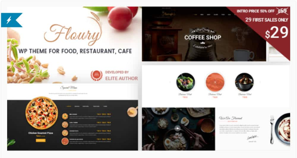Floury - Theme WordPress pour site web restaurant