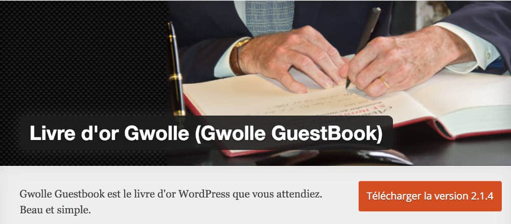 Livre d'or - WordPress plugin