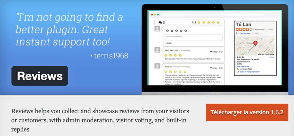 Reviews - plugin WordPress