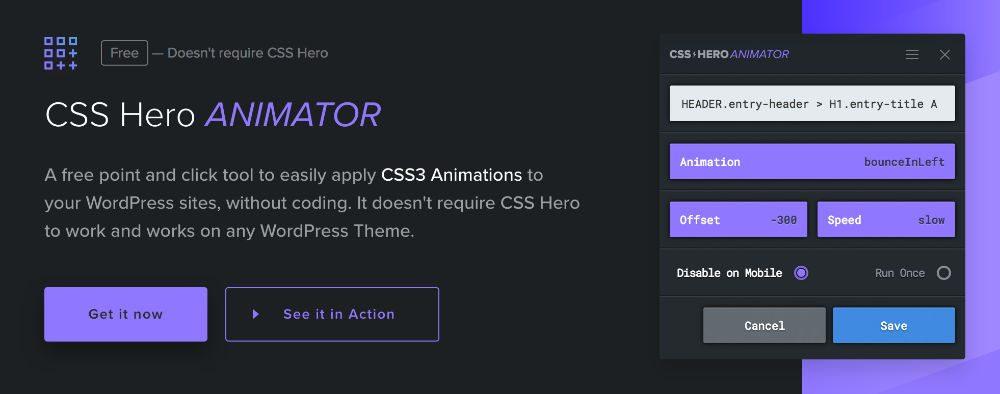CSS HERO Animator