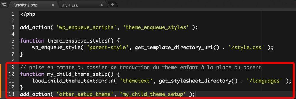 Ajouter une fonction au fichier functions.php