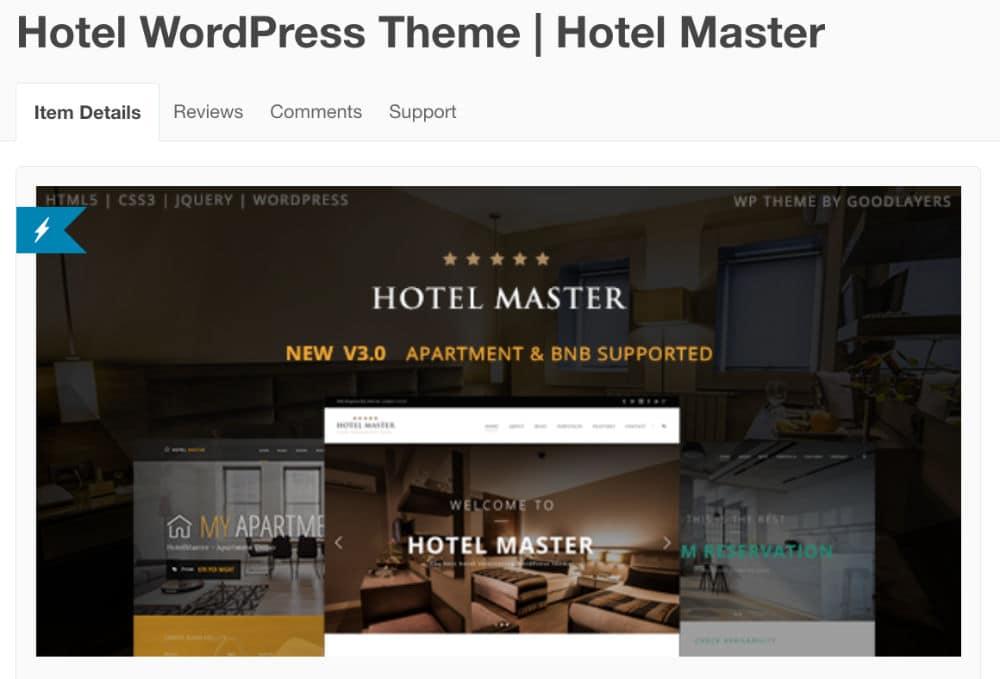 Thèeme WordPress - Hôtel Master