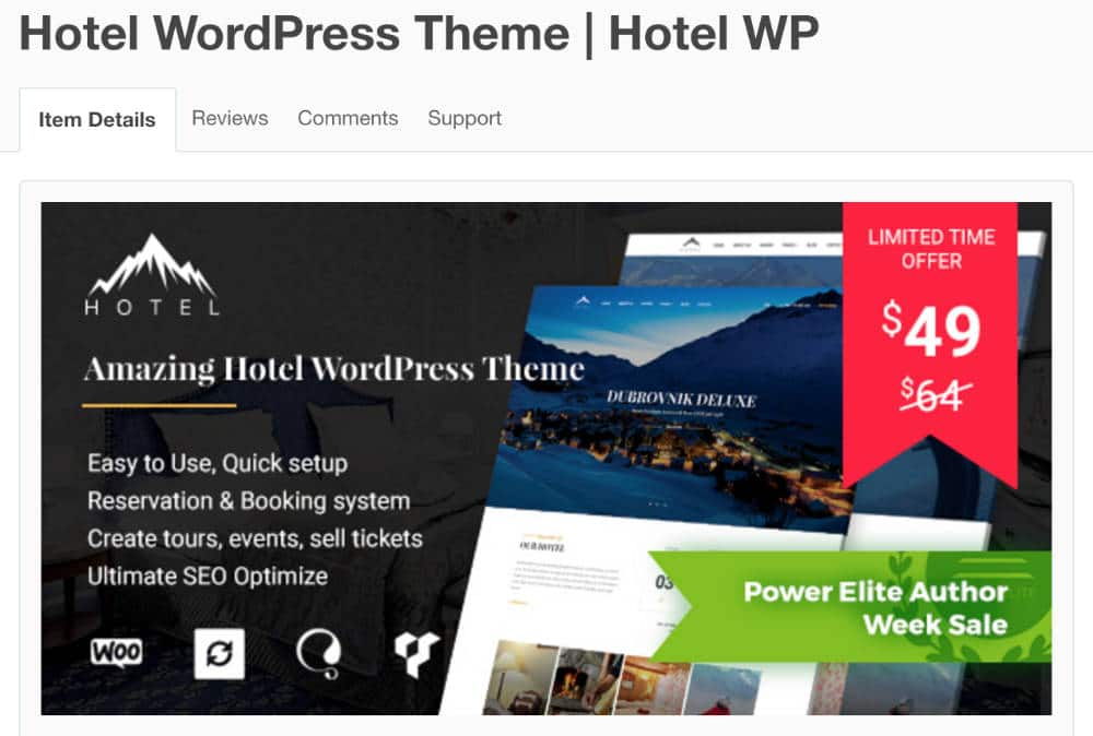 Theme WordPress - Hotel WP