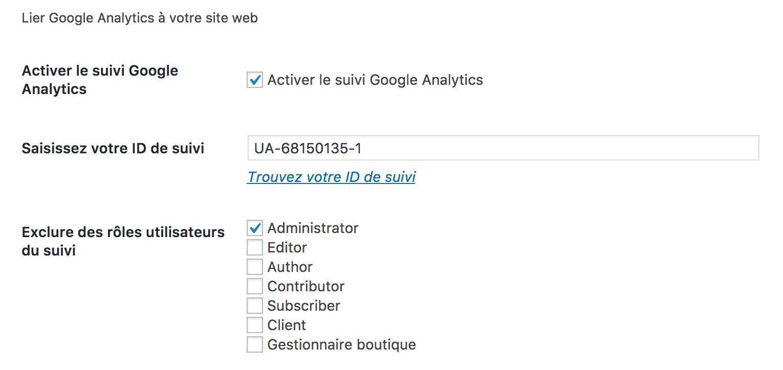 SEOPress Google analytics