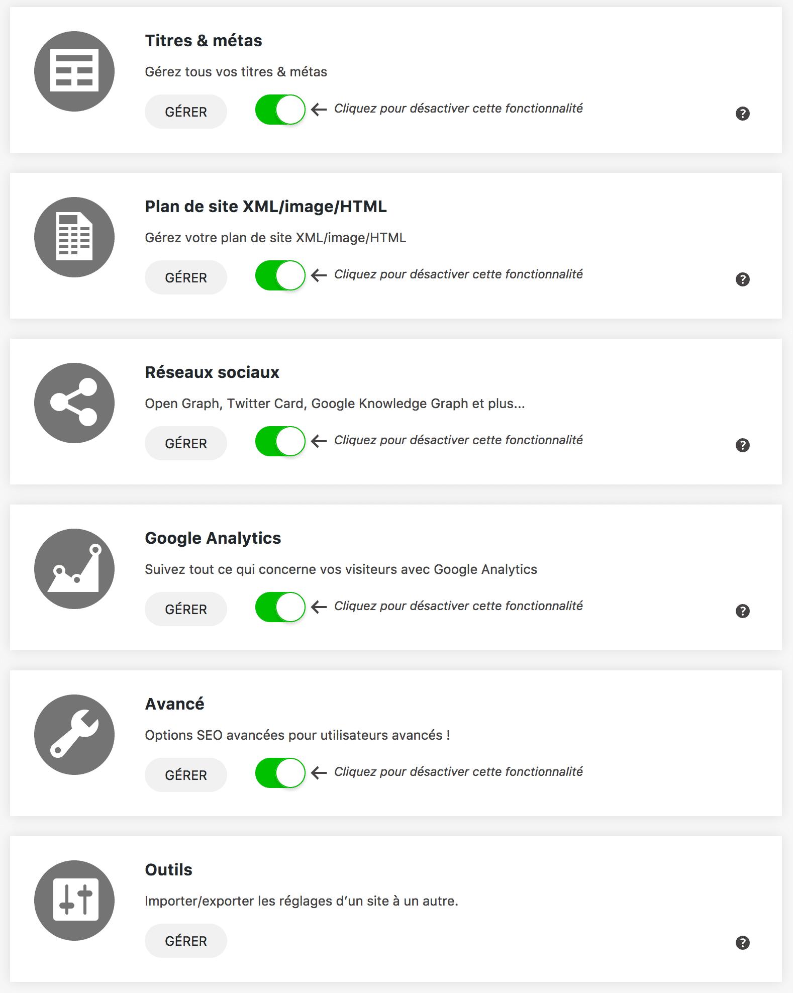 SEOPress interface