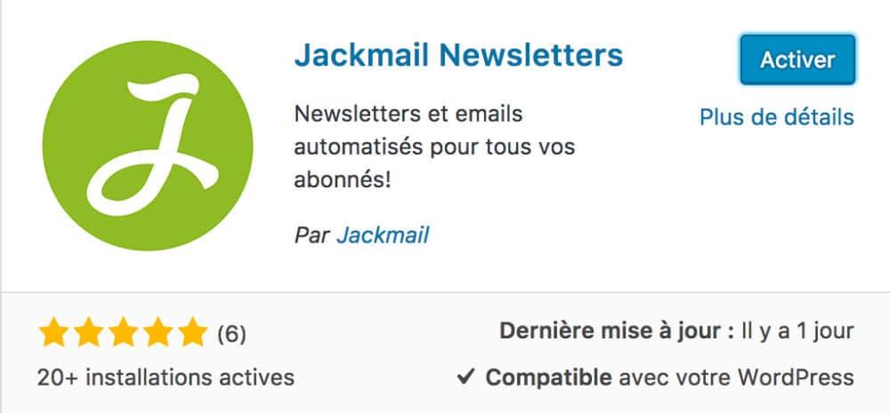 Jackmail - plugin WordPress