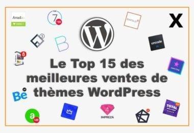 Les meilleures ventes de thèmes premiums WordPress sur Themforest