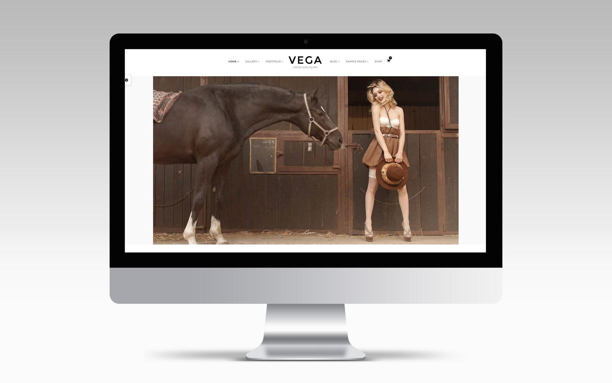 vega thème wordpress photographe