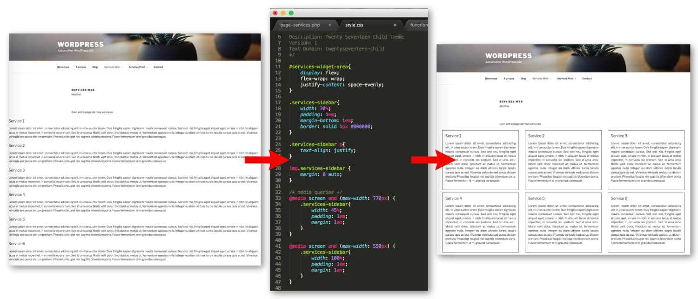 Ajout de CSS pour organiser la sidebar