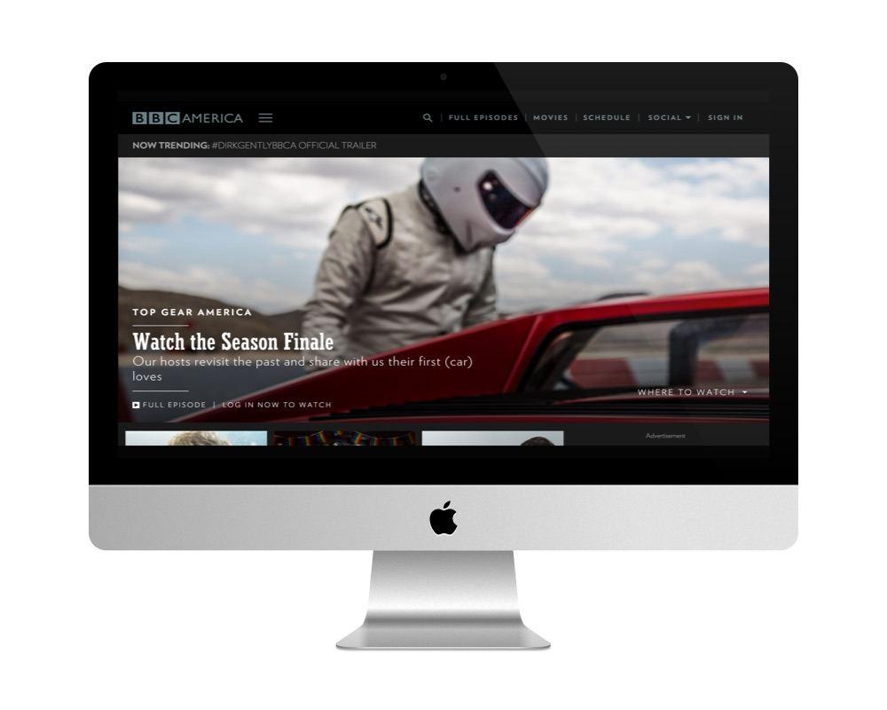 Le site BBC America fait avec WordPress