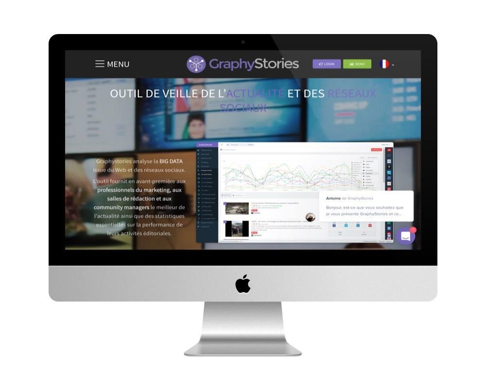 Le site de GraphyStories afit avec WordPress