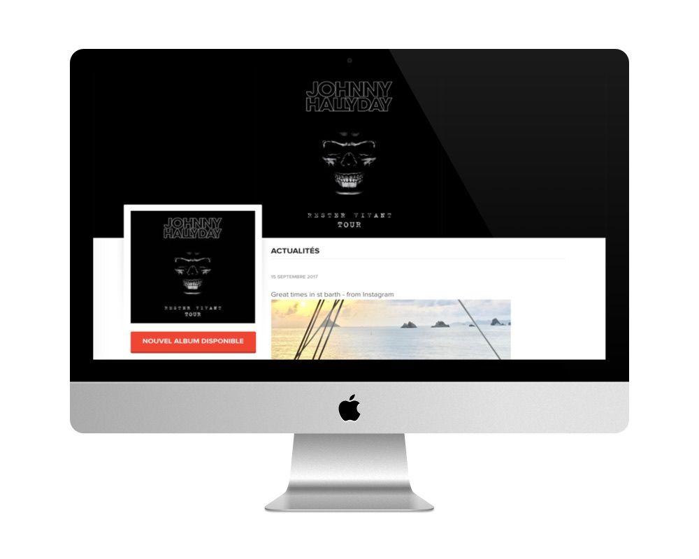 Le site de Johnny Hallyday fait avec WordPress