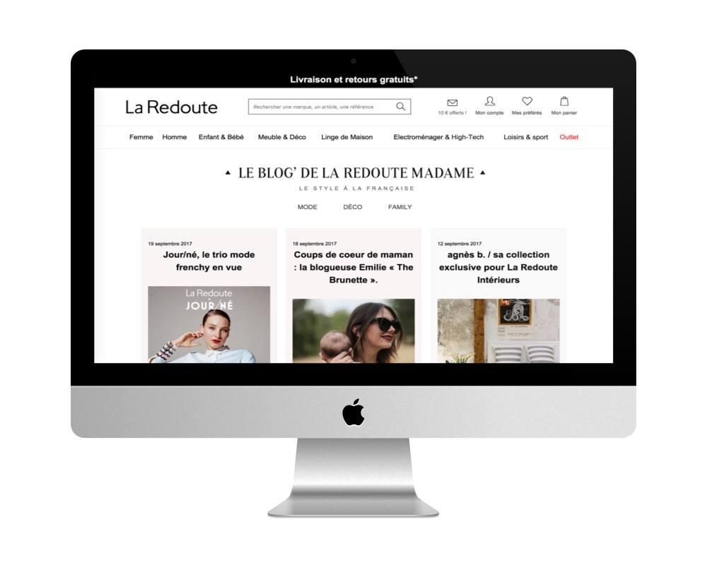 Le blog de la Redoute fait avec WordPress