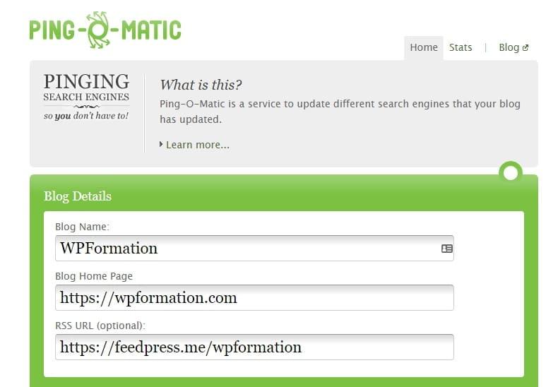 Les services PING de mise à jour pour WordPress