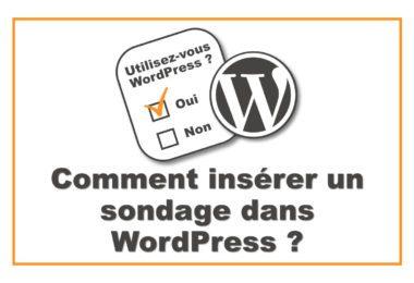 Insérer un sondage dans WordPress