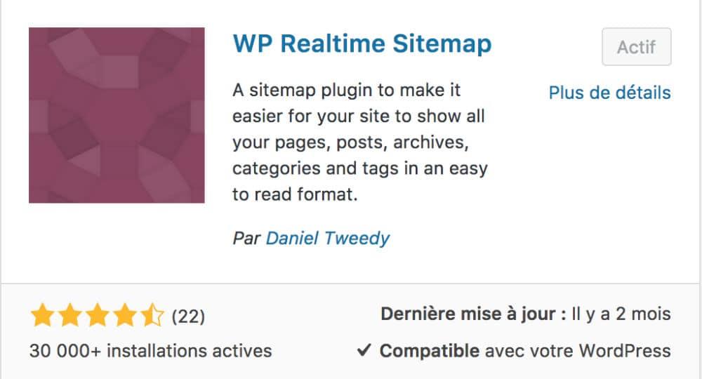 Plugin WP Realtime Sitemap