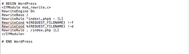 configuration htaccess par défaut