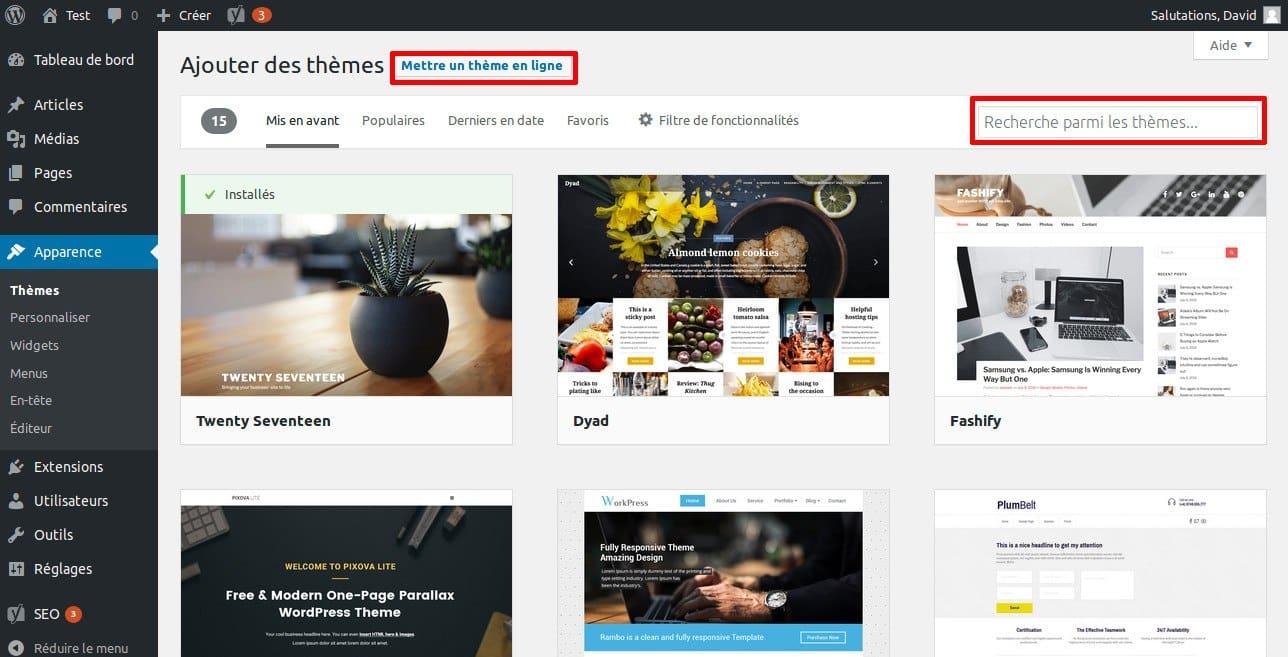 La grande FAQ WordPress - Image 3 Installer un theme WordPress