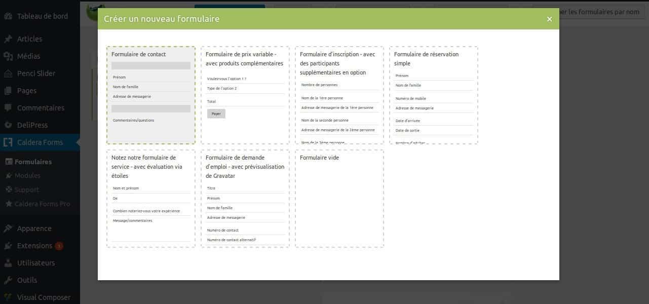 La grande FAQ WordPress - Image 12 Caldera Forms