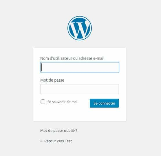 La grande FAQ WordPress - Image 7 Mot de passe perdu