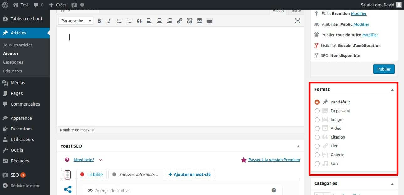 La grande FAQ WordPress - Image 9 Format d'article